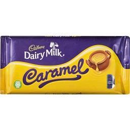 Tablete de chocolate com caramelo