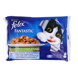 Comida húmida para gato seleção de legumes