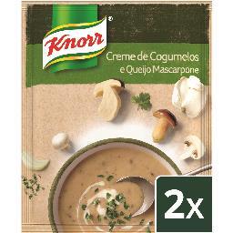 Sopa 100% de cogumelos