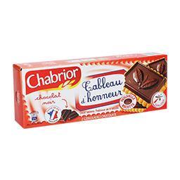 Bolachas com cobertura de chocolate