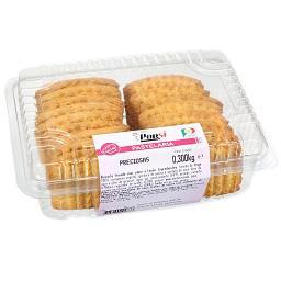 Preciosas biscoito frisado com sabor a limão