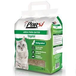 Areia para gatos biodegradável vegetal