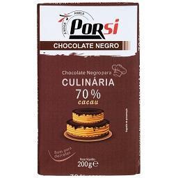 Tablete de chocolate culinário 70% negro